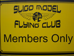 Members Only sign at airfield gate